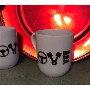 Accessories - LOVE drag race car mugs